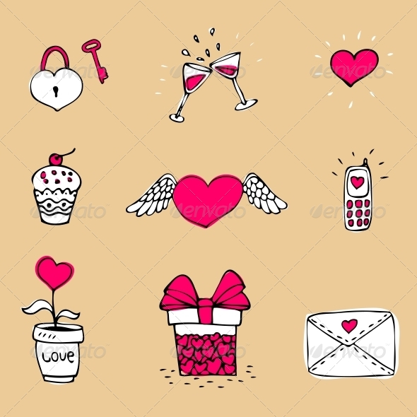GraphicRiver Love Icons Set 6133328