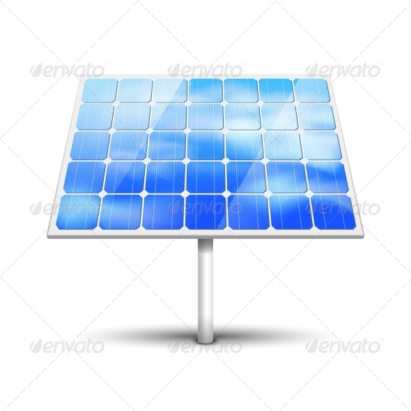GraphicRiver Solar Panel on White 6133368