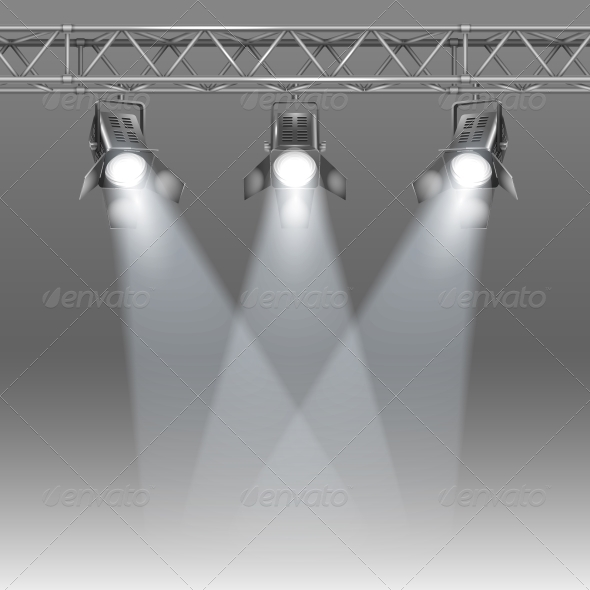 GraphicRiver Stage with Projectors 6133444