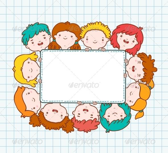 GraphicRiver Doodle Kids Blank Frame 6133537