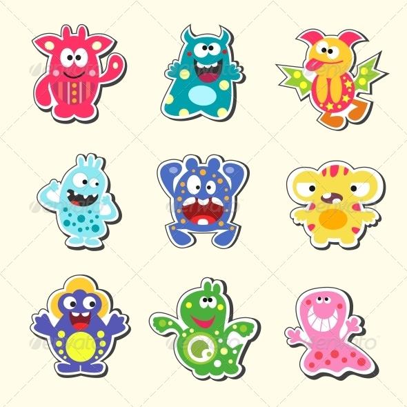 GraphicRiver Cartoon Monsters Set 6133539