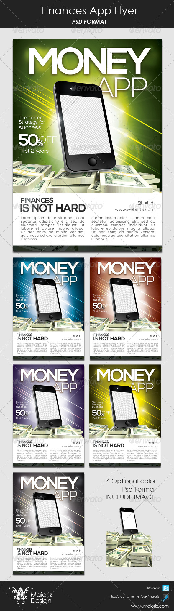 GraphicRiver Finances App Flyer 6133544