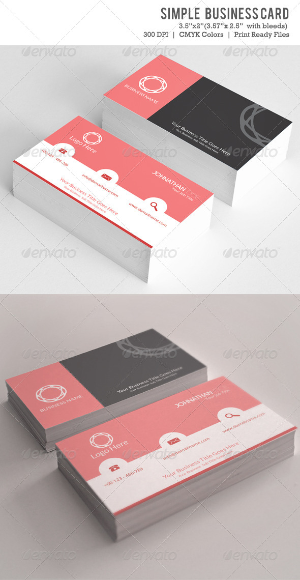 GraphicRiver Simple Business Card Vol-01 6094384
