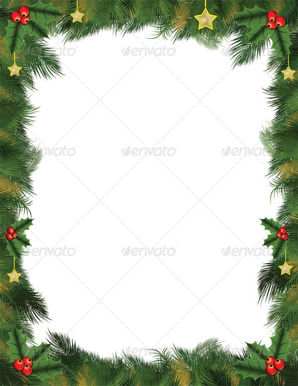 GraphicRiver Christmas Lettersize Flyer Background in Photoshop 6133842