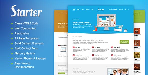 Starter - Responsive HTML5 Template