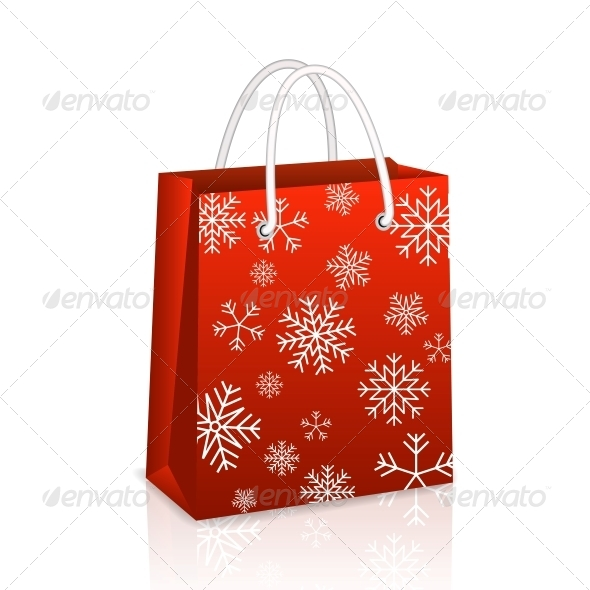 GraphicRiver Christmas Red Shopping Bag 6133909