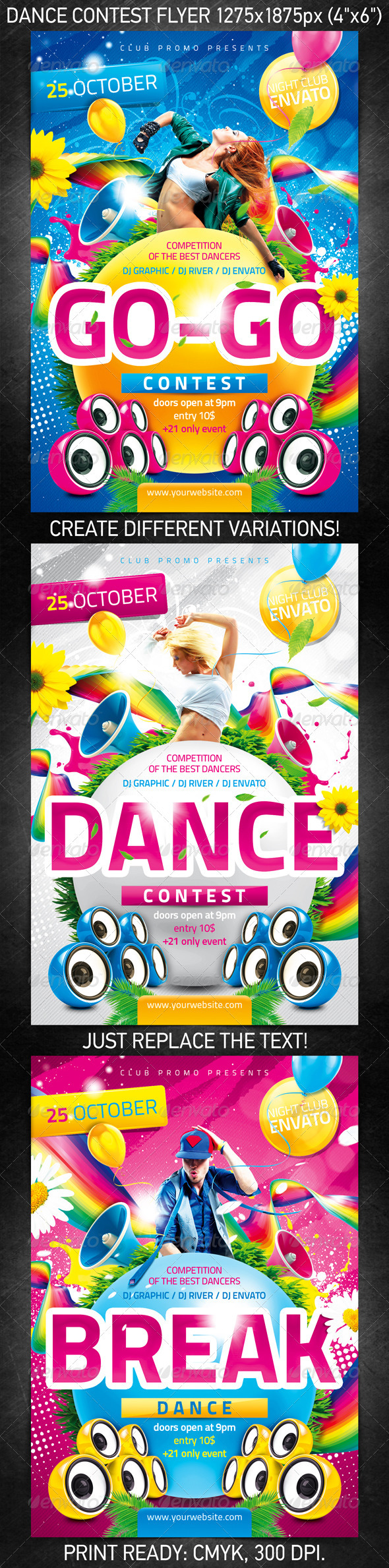 Dance Contest Flyer - Clubs & Parties Events