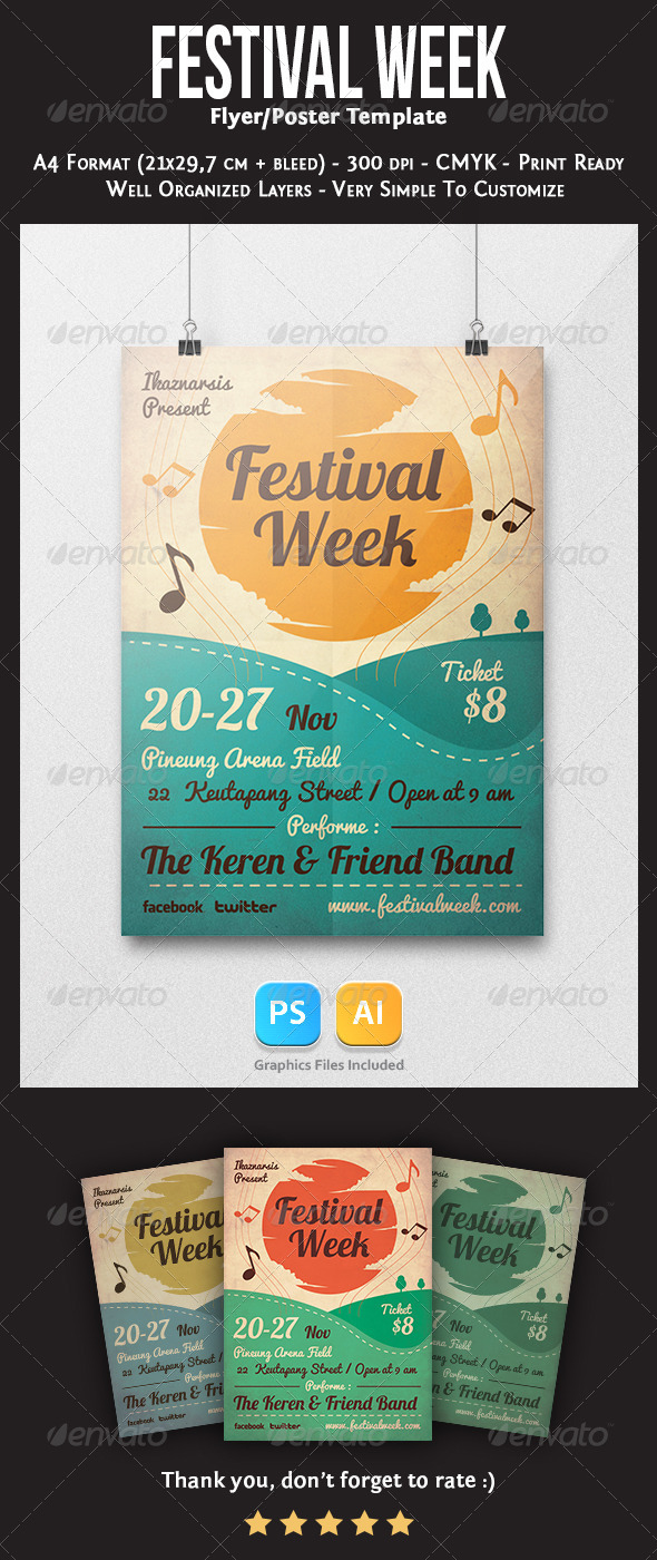 GraphicRiver Festival Week Flyer Template 6134198