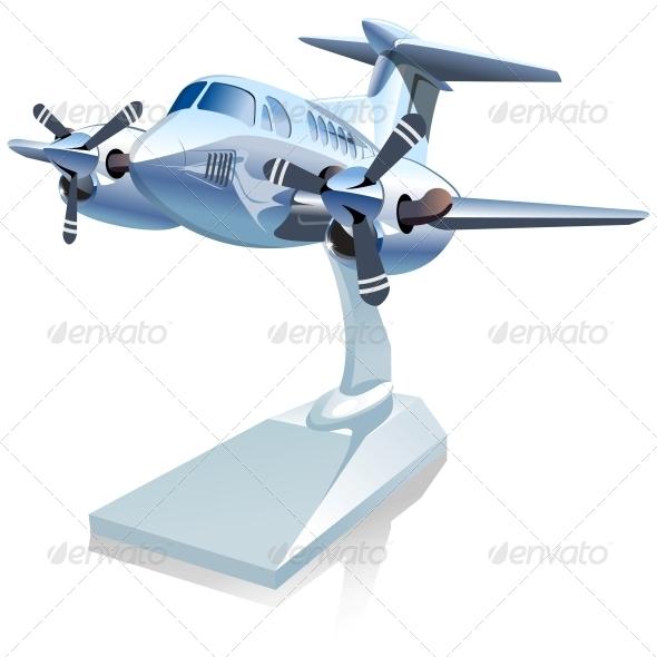 GraphicRiver Vector Cartoon Airplane 6134343
