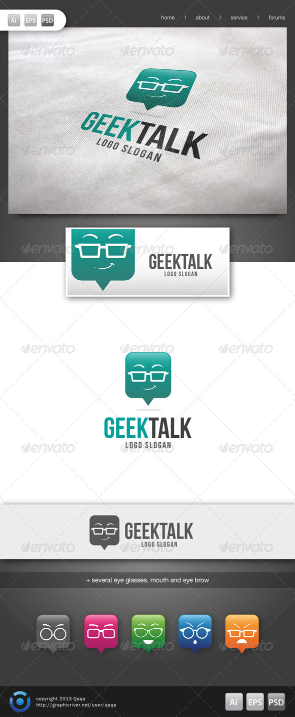 GraphicRiver Geek Talk Logo 6134361