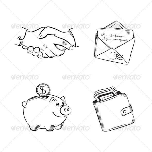 GraphicRiver Business and Finance Vector Set 6134366