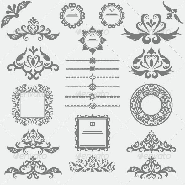 GraphicRiver Vintage Design Elements 6134373