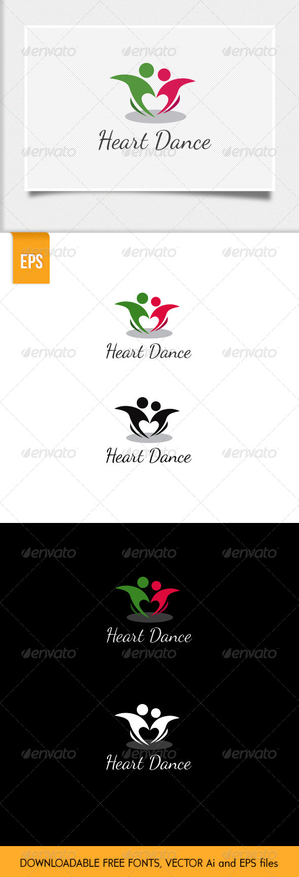 GraphicRiver Heart Dance Logo 6125591