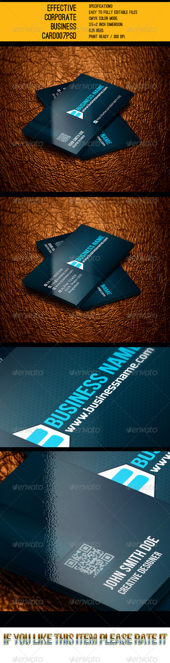 GraphicRiver Effective Corporate Business Card PSD 6134472