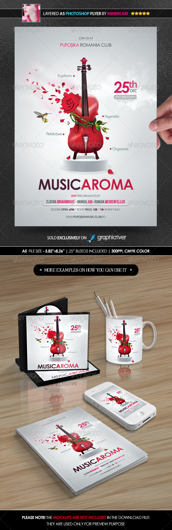 GraphicRiver Music Aroma Poster Flyer 6134478