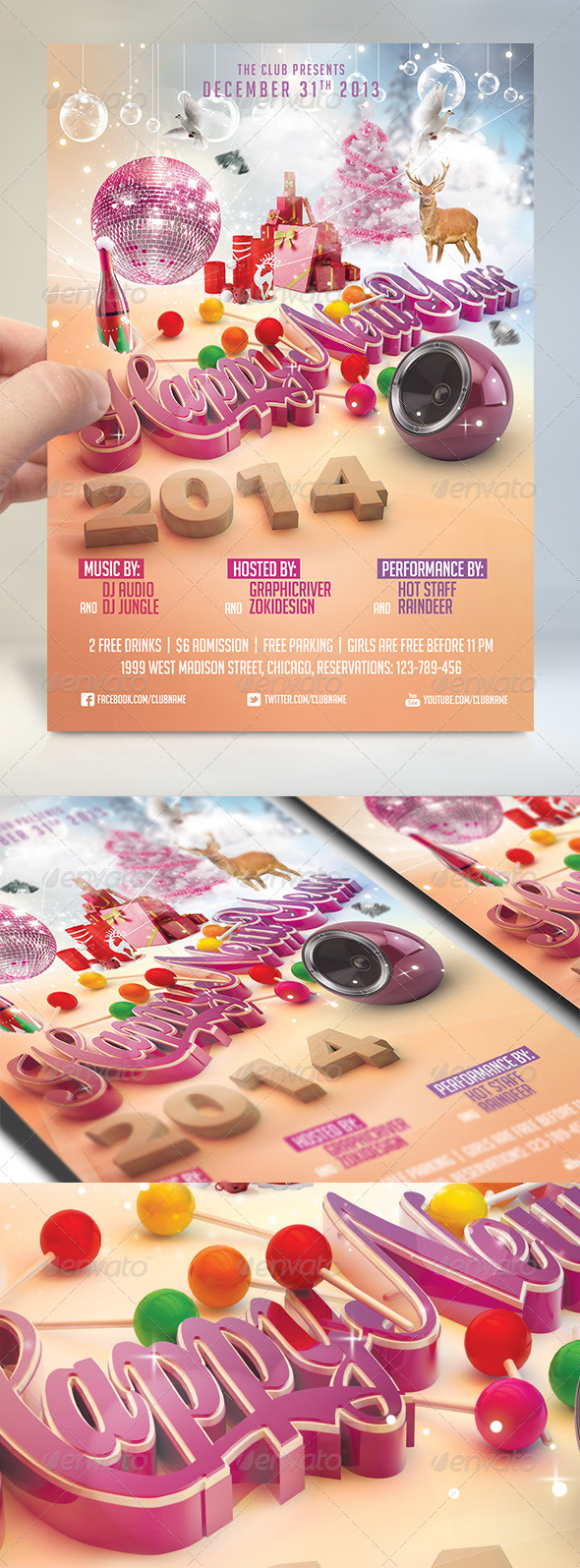 GraphicRiver Happy New Year Flyer 6134489