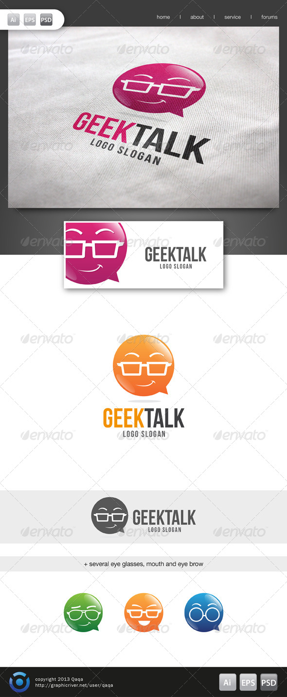 GraphicRiver Geek Talk Logo 02 6134519
