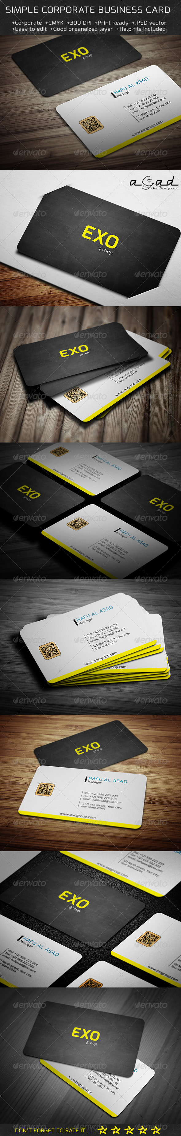 GraphicRiver Simple Corporate Business Card 6124525
