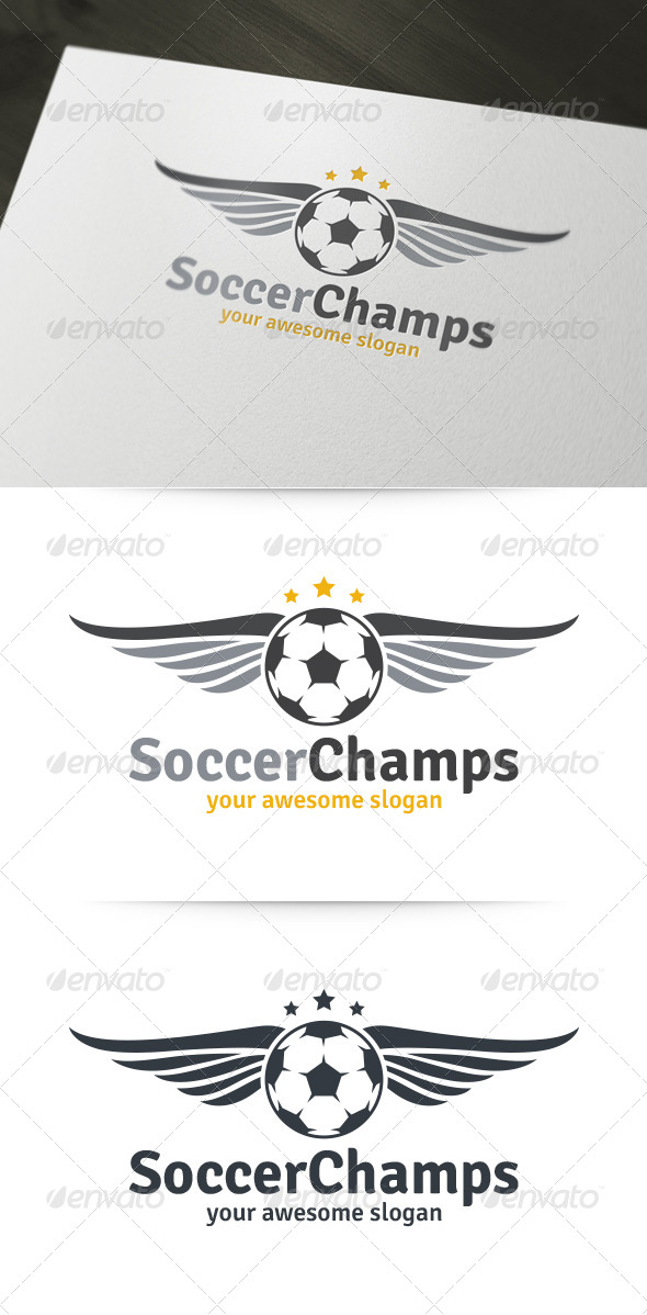 GraphicRiver Soccer Champs Logo 6134639
