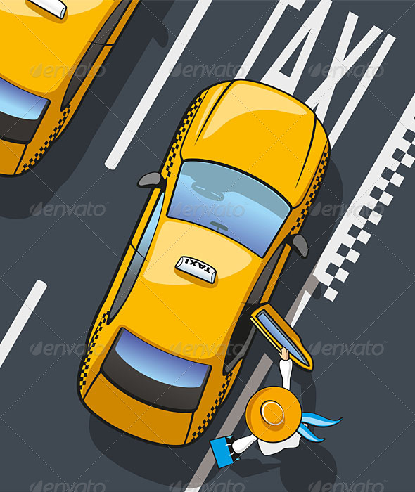 GraphicRiver Taxi Yellow Cab 6134683