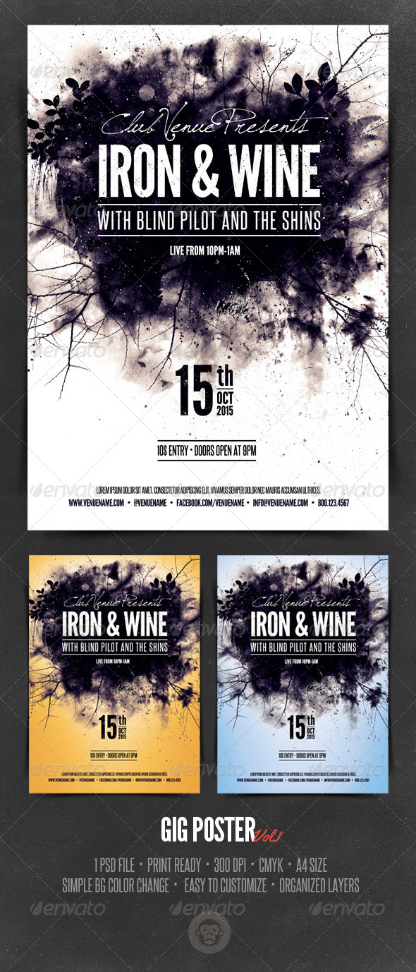 GraphicRiver Gig Poster Template Vol1 6134692