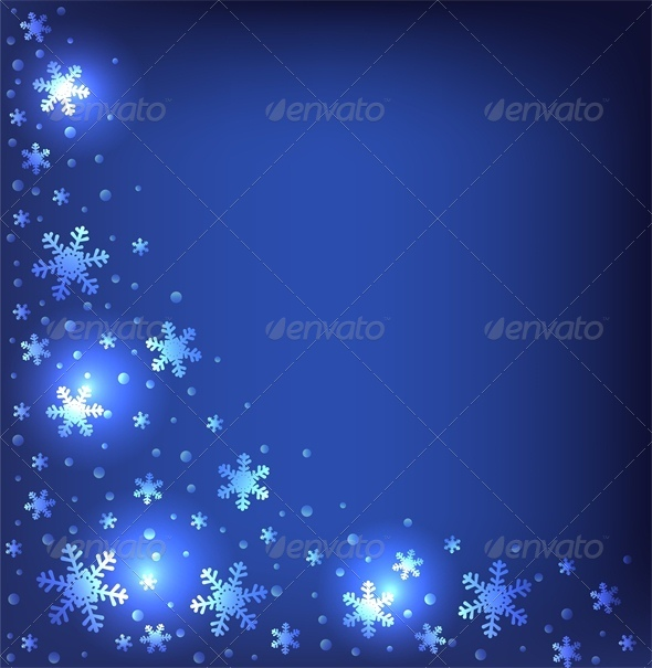 GraphicRiver Christmas Dark Blue Background 6134781