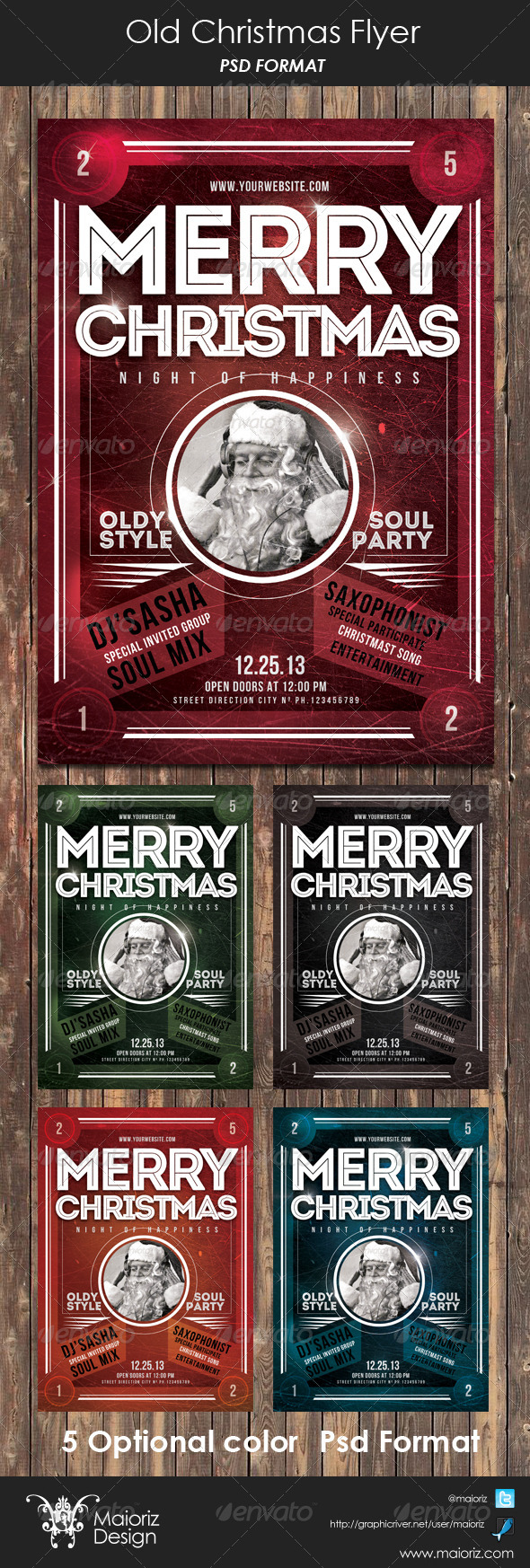 GraphicRiver Vintage Christmas Flyer 6134795