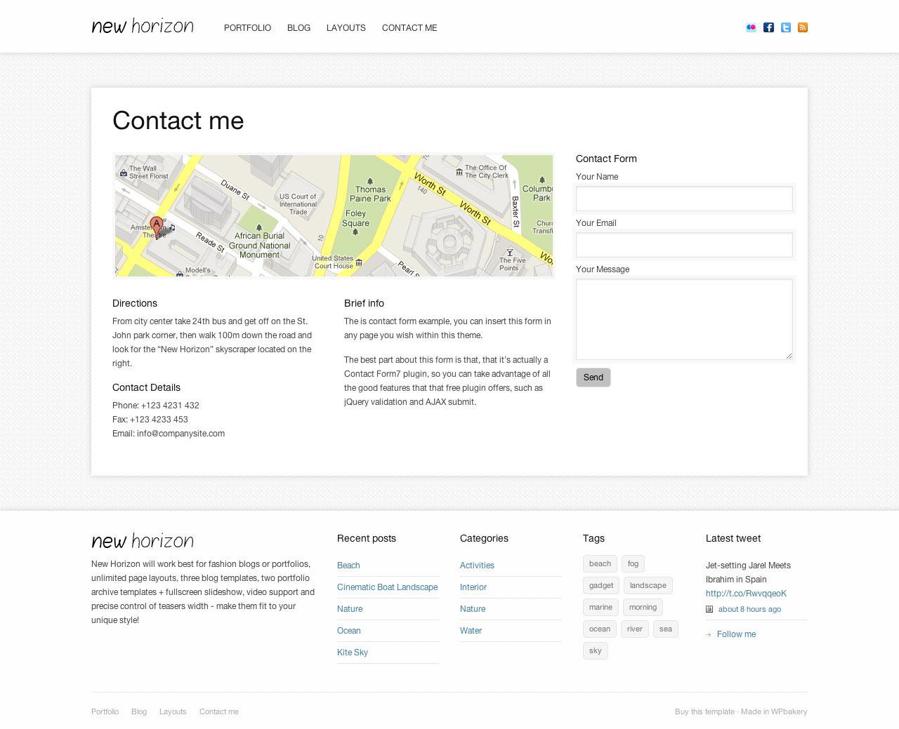 New Horizon - Blog & Portfolio WordPress Theme