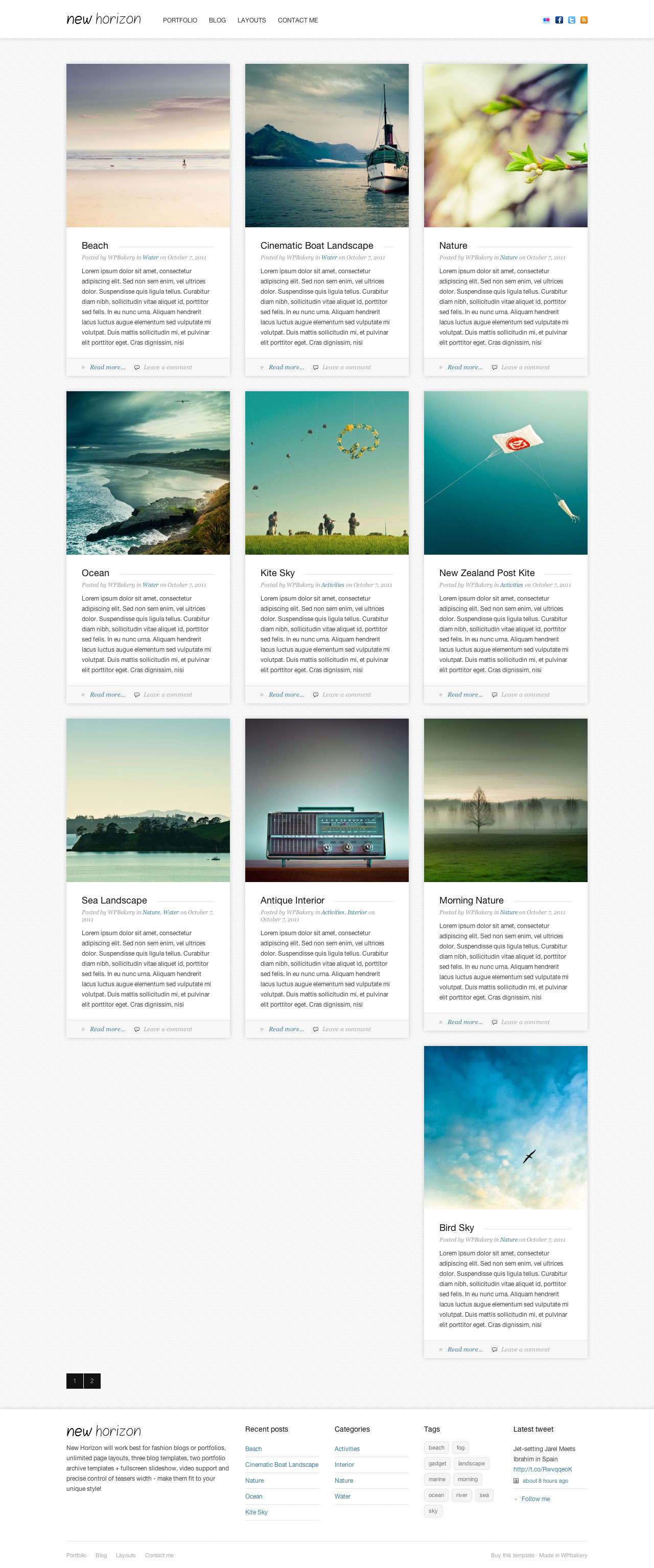 New Horizon - Blog & Portfolio WordPress Theme