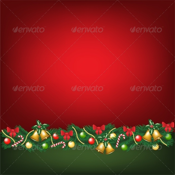 GraphicRiver Christmas Card with Decorations 6134856