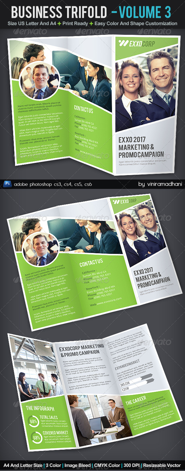GraphicRiver Business TriFold Brochure Volume 3 6134870
