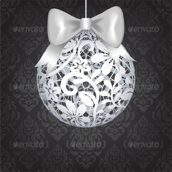 GraphicRiver Christmas Card with Lace Bauble 6134901
