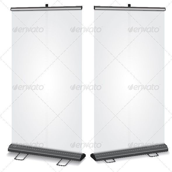 GraphicRiver Blank Roll-Up Banner 6132898