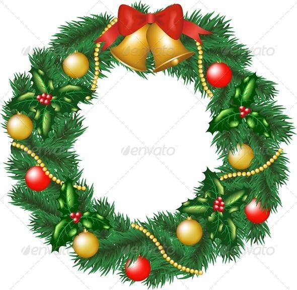 GraphicRiver Christmas Wreath 6134931