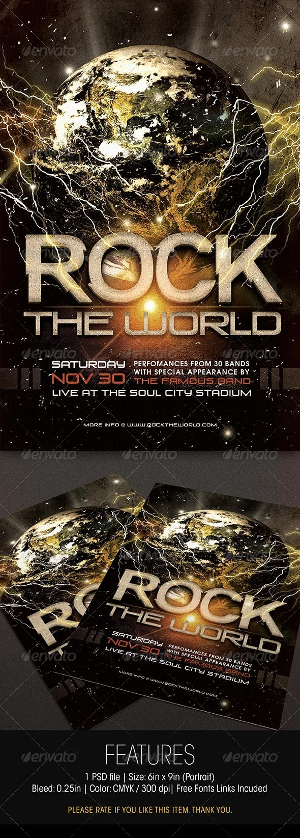 GraphicRiver Rock The World Concert Flyer 6135030