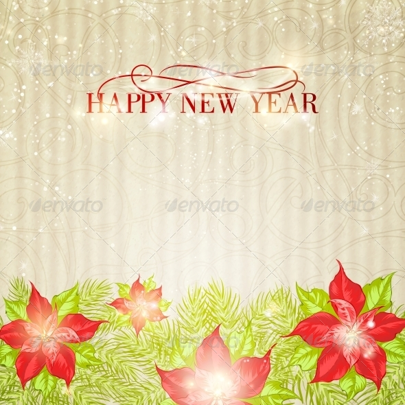 GraphicRiver Christmas and New Year Greeting Card 6135101