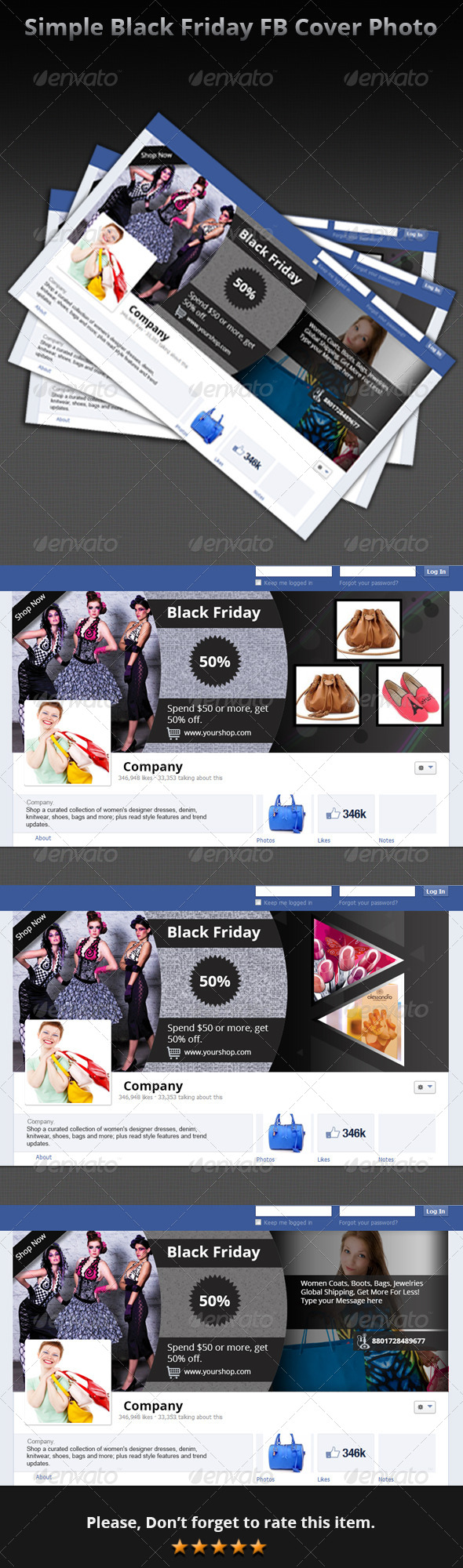 GraphicRiver Simple Black Friday FB Cover Photo 6135124
