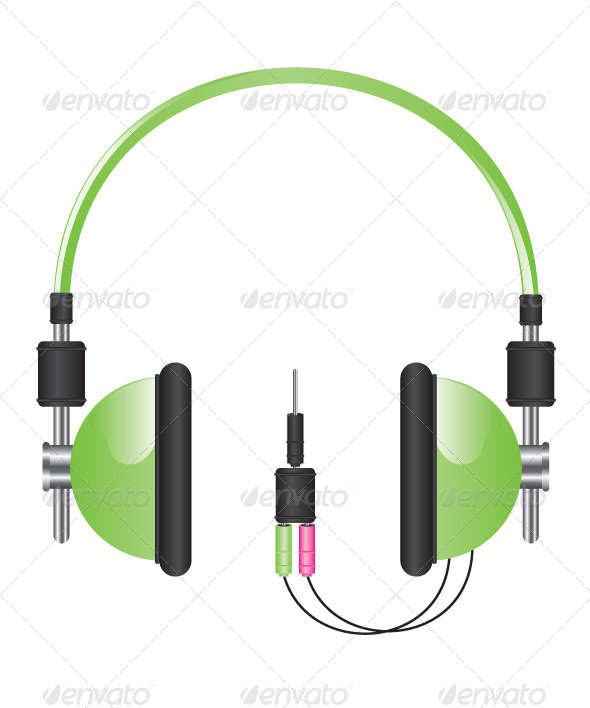 GraphicRiver Headphones Illustration 6135196