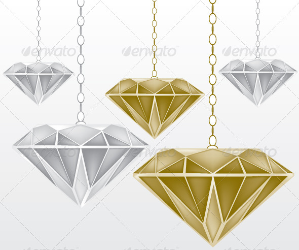 GraphicRiver Diamonds Illustration 6135208