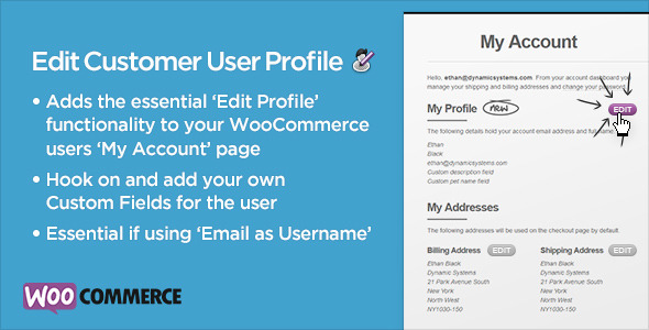 CodeCanyon WooCommerce Edit Customer User Profile 6079489