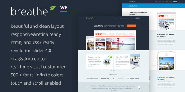 ThemeForest Breathe Responsive Multi-Purpose WordPress Theme 6112853