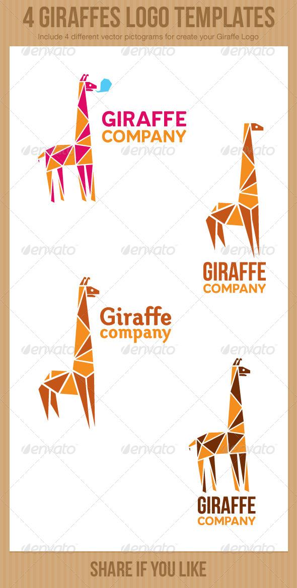 GraphicRiver 4 Giraffe Logos 6092448