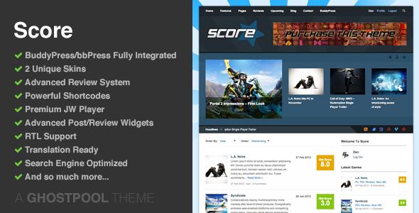 Score: Review WordPress/BuddyPress Theme