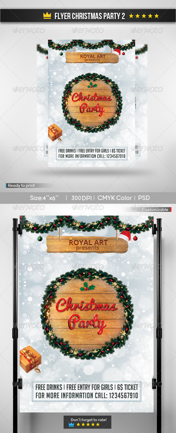 GraphicRiver Flyer Christmas Party 2 6135603