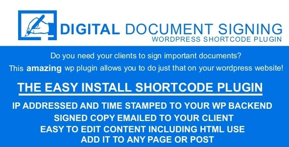 CodeCanyon Digital Document Signing 6135606