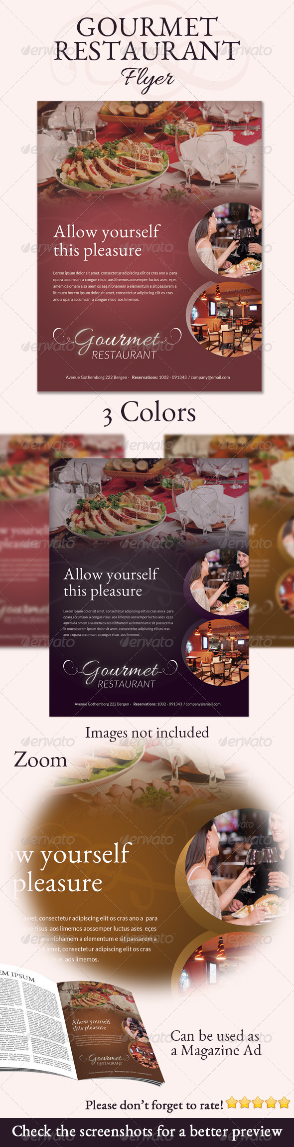 GraphicRiver Gourmet Restaurant Flyer 6135631