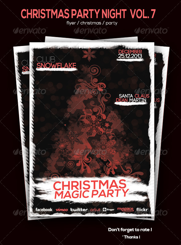 GraphicRiver Christmas Party Flyer Volume 7 6135648