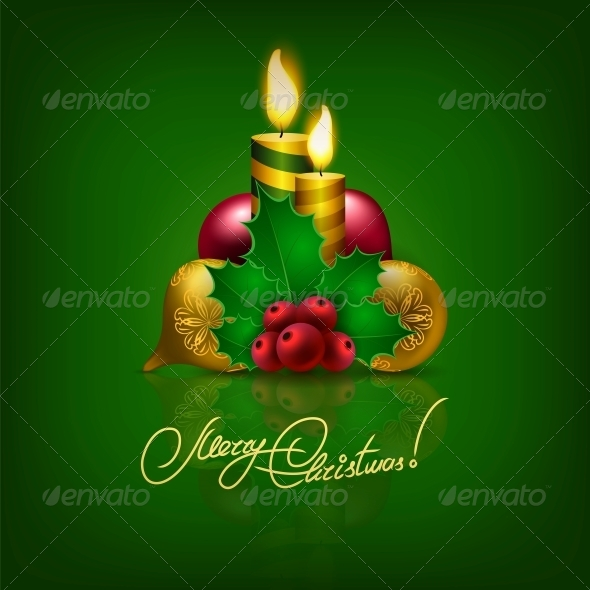 GraphicRiver Elegant Christmas Background with Christmas Balls 6135655