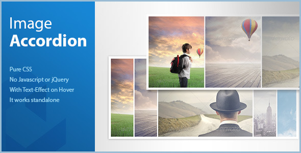 CodeCanyon Pure CSS Image Accordion horizontal 6135656