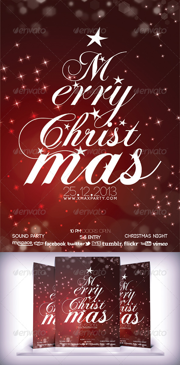 GraphicRiver Merry Christmas Flyer 6135672